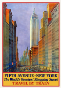 Vintage Travel Poster Fifth Avenue, New York